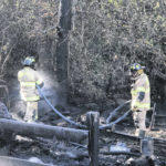 Fire destroys RFL area shed, house saved