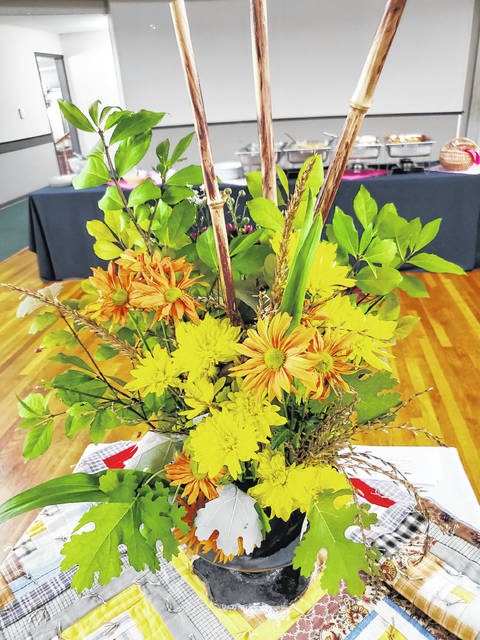 Members of the Hillsboro Garden Club attended the Region 16 meeting on Oct. 10. Hosted by Madison County at the London Country Club, it featured a duo design, three-dimensional creative design in one container. This creation was desgined by Babs Sabick. Dan Kirts told attendees how to grow giant pumpkins, secret alfalfa tea and genetic seeds. Six counties were represented with eight members from Hillsboro Garden Club.
