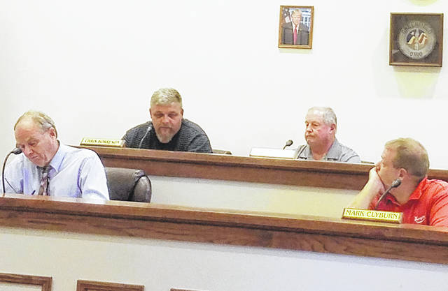 Greenfield Council members (l-r) Phil Clyburn, Chris Borreson, Bob Bergstrom and Mark Clyburn are pictured at a September meeting. Councilman Eric Borsini is not pictured.