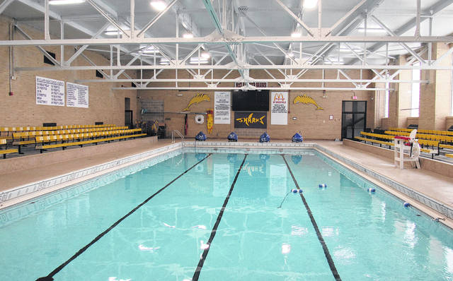 The McClain pool is pictured in October, filled and ready for the upcoming swim season.