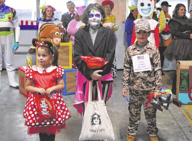 Pictured above are the 5 to 10-year-old winners of Hillsboro's Boo-Fest, sponsored by Buckeye Country. From left to right: Bella Gillelty (third place), Lydia Smith (second place), Andrew Couch (first place).