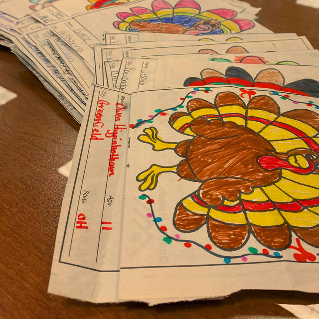 Highland County children colored and submitted turkeys, which appear in the Thanksgiving edition of The Times-Gazette.