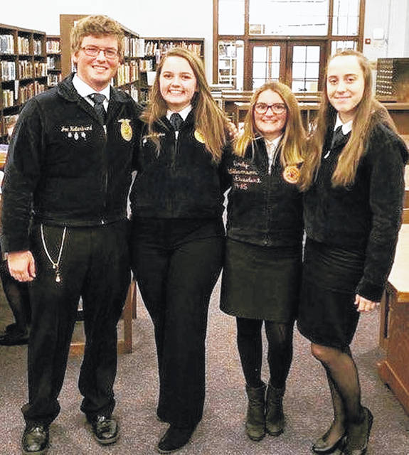 Pictured, from left, are Joe Helterbrand, Jaiden Hughes, Serena Humphrey and Trinity Edenfield. Not pictured are Ben Florea and Breanna Cooper.