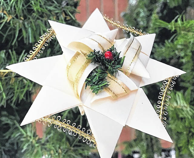 Children can create a Christmas spider like this on Dec. 5 at the Greenfield Branch Library.
