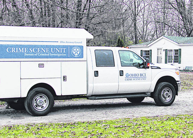 An Ohio Bureau of Criminal Investigation vehicle is pictured at the seen of a Nov. 18 fatal shooting Willetsville.