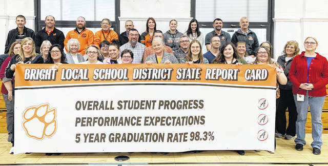 "As the Bright Local School District celebrates celebrates the successes of its students' achievements, Whiteoak Jr./Sr. High School Principal Jason Iles said he wants to congratulate the entire student body, faculty, staff, administration and community on their achievements. ""As we have received these rankings we are continuing to work hard to maintain our success,"" Iles said. ""Bright Local School District is the hidden gem in Highland County and is continuing to grow. Within our buildings we are seeing growth at all levels in all subject areas. We are graduating 98.3 percent of students over a five-year period. I am proud of our students and staff."""