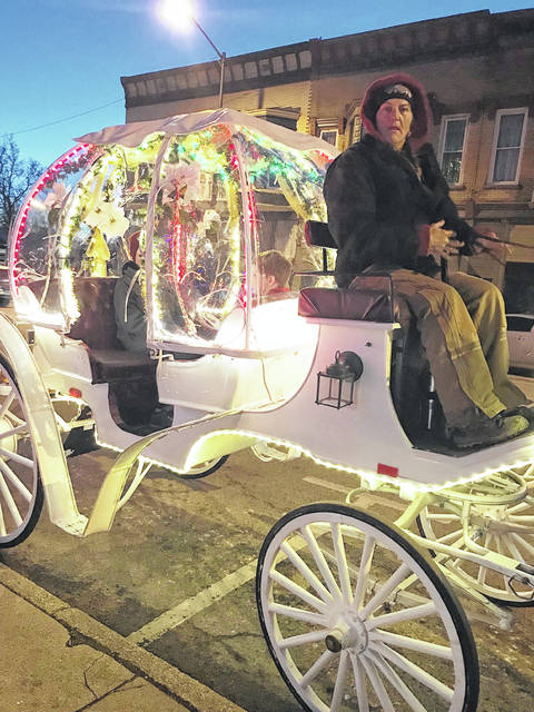 This is the carriage that will be offering rides Friday during the Lynchburg Village Christmas event.