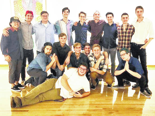 Christopher Ford, a 2017 Hillsboro High School graduate, is pictured above (back row, second front left) with The Cheezies, an a cappella group from Miami University that will perform Dec. 15 at St Mary's Episcopal Church in Hillsboro.