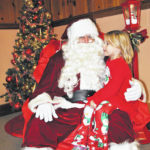 Hallowell visits with Santa Claus