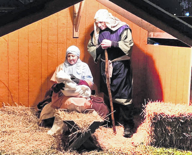 A scene from last year's live nativity at the Northview Baptist Church in Hillsboro is shown in this picture.
