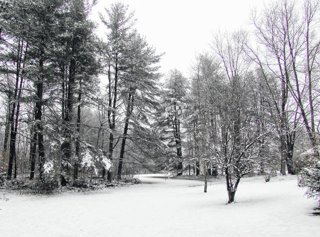 A picturesque winter scene was captured Monday morning in Highland County south of New Market.