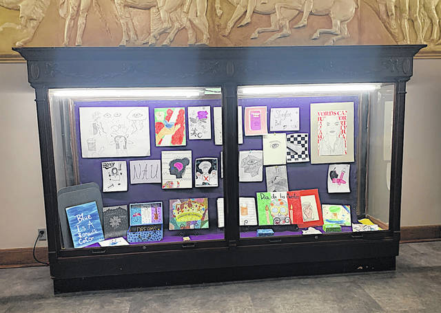 The artwork of McClain High School senior Shaylee Bell is shown is this showcase.