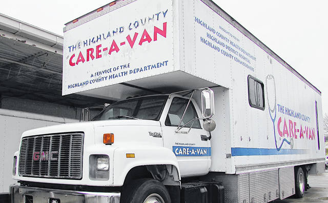 The Highland County Care-A-Van will visit several locations this week and next to offer flu shots.