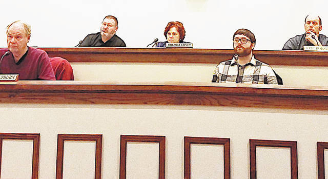 Greenfield Village Council members, from left, Phil Clyburn, Mark Branham, Brenda Losey, Kyle Barr and Eric Borsini are pictured during Tuesday's meeting.