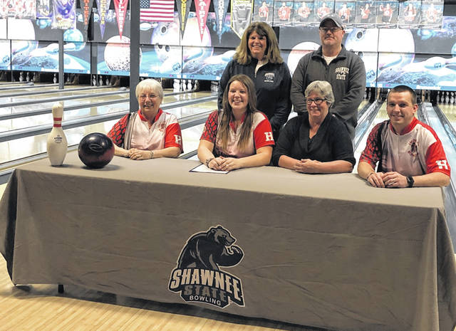 Hillsboro senior Haley Hughes signs to Shawnee State University for bowling.