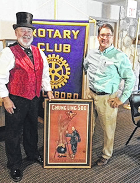 Steve Faris, left, is pictured with Hillsboro Rotary President Ted Rosenmayer.