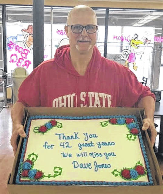 Community Market in Greenfield celebrated David Jones' 42-year career with a going away party.