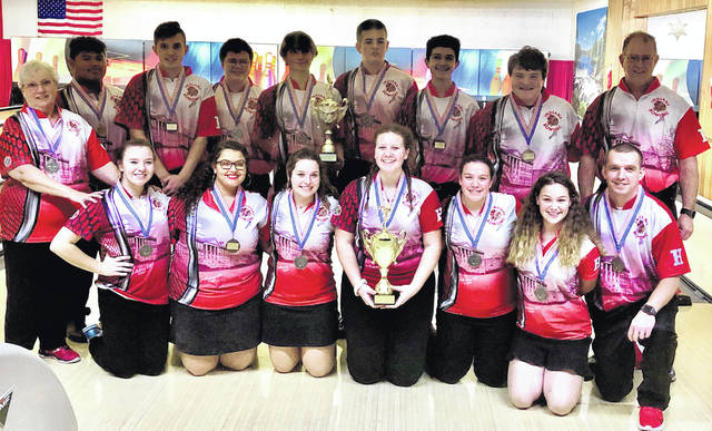 Here's a photo from Saturday, Jan. 11 of both teams after their victory at the LeElla Lanes Baker Bash.