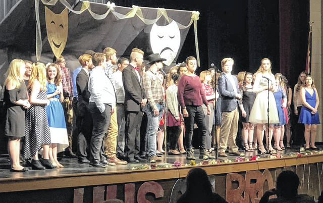 Hillsboro High School students perform a group song at last year's HHS On Broadway.