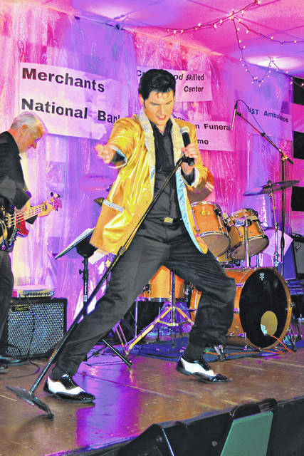 Elvis Presley tribute artist Tyler Christopher will make a return appearance Saturday, March 28 at the Highland County Senior Citizens Center in Hillsboro.