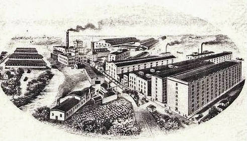 Pictured is Lynchburg's Freiberg and Workum Whiskey Distillery at the height of production.