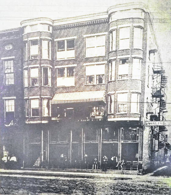The Parker Hotel is shown as it appeared in its heyday in the 1930s. The demolition of the structure in the 100 block of West Main Street in Hillsboro started this week.