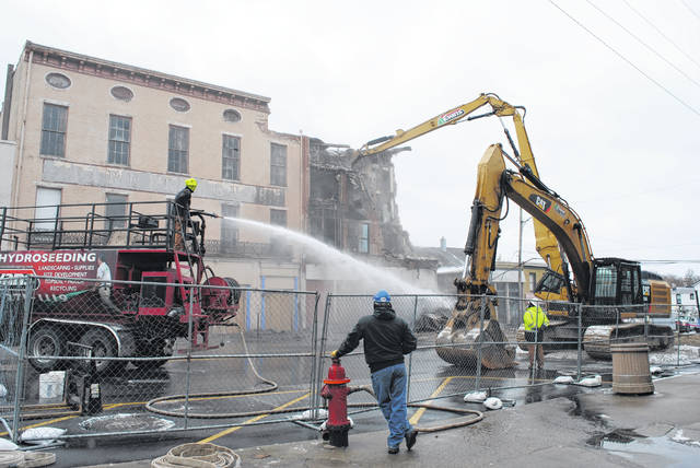 """Though the project was delayed Wednesday, demolition on the Parker Hotel began Thursday morning. Read more about Wednesday's delay <a href=""""https://www.timesgazette.com/news/46178/parker-demolition-meets-delay"""" target=""""_blank"""">here</a>. Check timesgazette.com later for updates."""