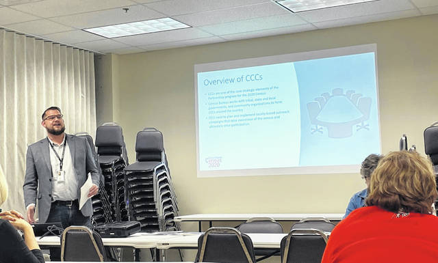 In a scene from a January census meeting, Philadelphia Regional Census Center Partnership Specialist Samuel Knight presented on the importance of the census.