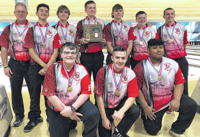 The Hillsboro Indians are having a great post season. On Friday, Feb. 21, they were crowned Division II, Southeast-East District champs. The Indians bowled three regular games with scores of 876, 1023, and 988. In Baker Games they had a score of 1122 in a six game set. The Indians had a total score for the day of 4009 to bring home the District championship. Freshman Zach Ison led the Indians and was named the District Individual Runner up with a score of 642. He was followed by Senior Tyler Snapp with a series of 629, and Bryce Bledsoe with a series of 585. The Indians will travel to Wayne Webb's Columbus Bowl on Feb. 28, to bowl in the Division II State Championship.