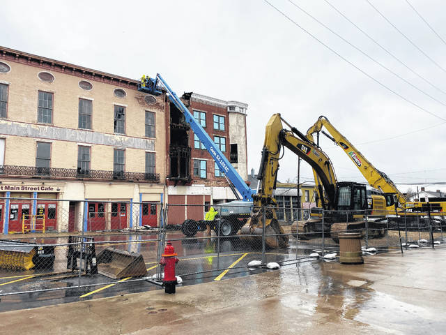 The Parker Hotel demolition met a delay on Wednesday. Hillsboro Public Works Superintendent Shawn Adkins said the timeline for the project may be extended.