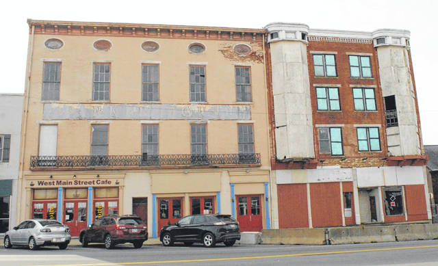 The Parker Hotel, right, is set to be demolished on Wednesday, Feb. 26.