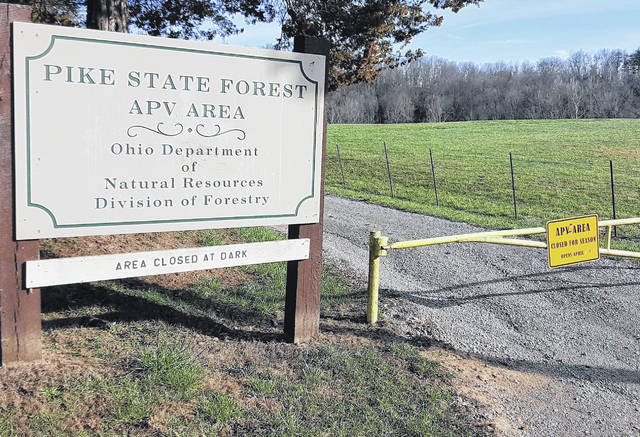 Closed gates and concrete blockades prevented access to both entrances Thursday of the Pike State Forest APV Area on SR 124 near Sinking Spring following the mandated closure on Wednesday.