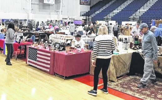 In a scene from the 2019 Cabin Fever Arts Festival, 60 vendors laid out their wares. This year's festival will have 70 vendors.