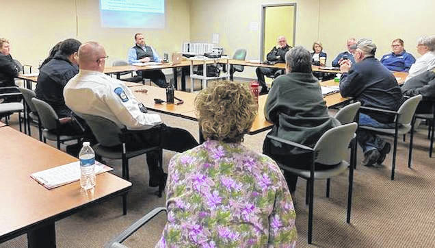 The Highland County Health Department and the Highland County Emergency Management Agency met with first responders on Friday to plan for the eventual arrival of coronavirus.