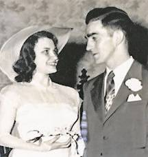 Tom and Jeanne Boyle are pictured as newlyweds in 1950.