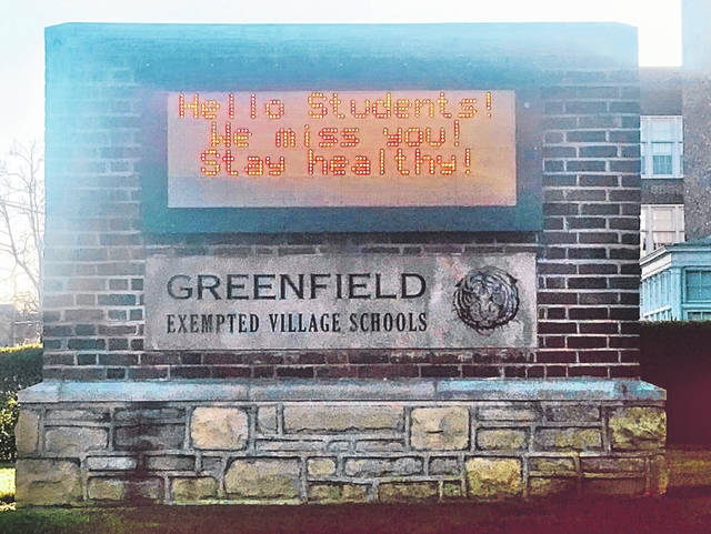 These words currently are on display on the message board in front of the schools in Greenfield.