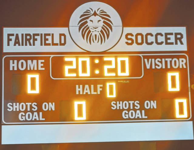 Fairfield High School turned the score board on and put 20:20 on the clock to show appreciation for the class of 2020.