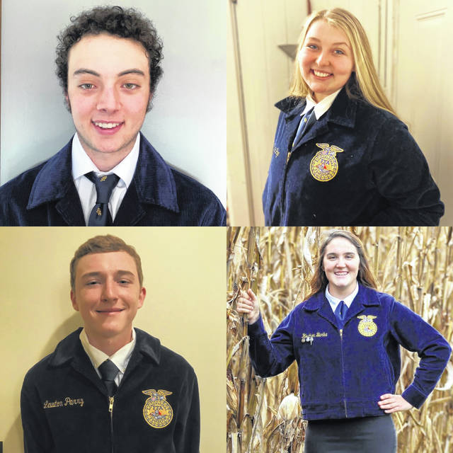 Pictured, clockwise from top left, are Gavin Puckett, Christine Page, Heather Burba and Lawton Parry.