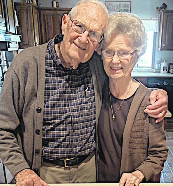 Hillsboro residents Bob and Dorothy Hodson celebrated their 74th wedding anniversary Monday, May 25. They are shown on their wedding day and in a more recent picture.