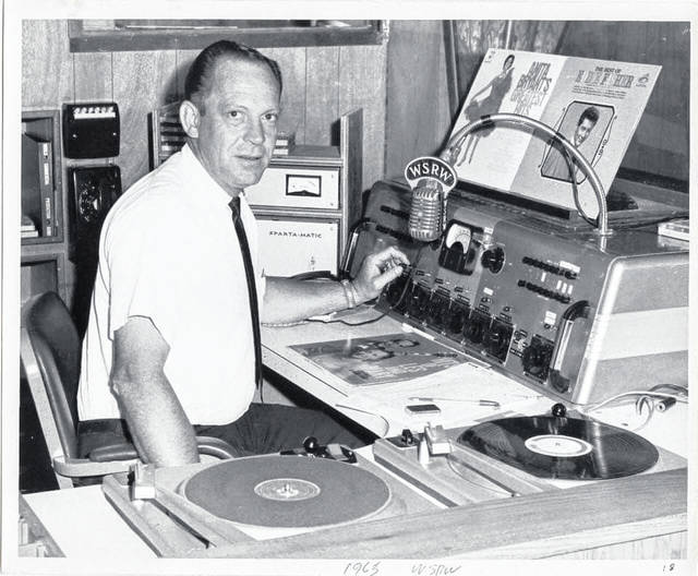 A young Willard Parr is pictured on the air in 1965, spinning the hits at WSRW Radio. Parr died Monday at the age of 94.