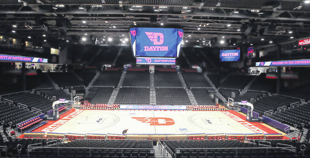UD Arena is pictured after the third and final phase of the three-year renovation project on Friday, Nov. 1, 2019, at UD Arena. David Jablonski/Staff