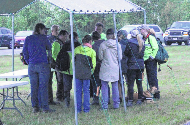 A search party comprising professionals and volunteers met at the Madison Township building, located at 12646 Centerfield Rd., on Tuesday morning.