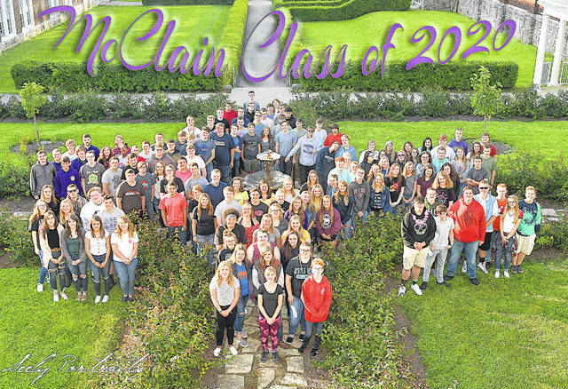 McClain High School's graduating class of 2020 is pictured in a photo taken at the beginning of the school year.