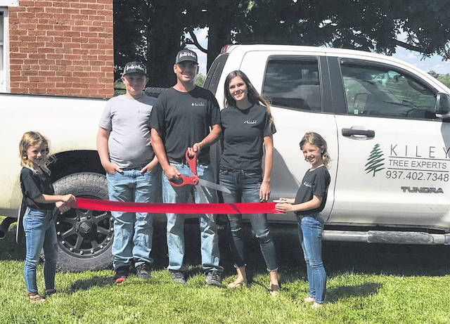 Kiley Tree Experts owner Luke Kiley is pictured above with his family.