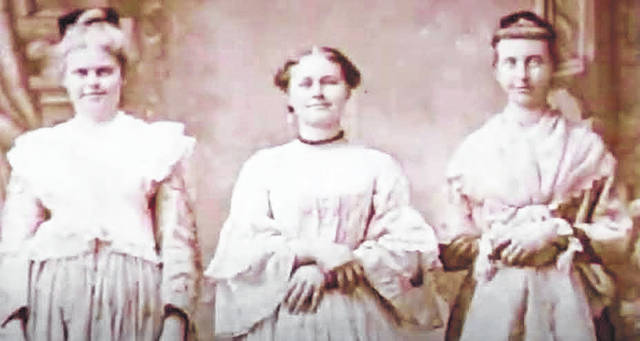 The Detwiler sisters were well-known in Highland County for their artistic abilities. Pictured, from left: Irene, Fannie and Margaret Detwiler.