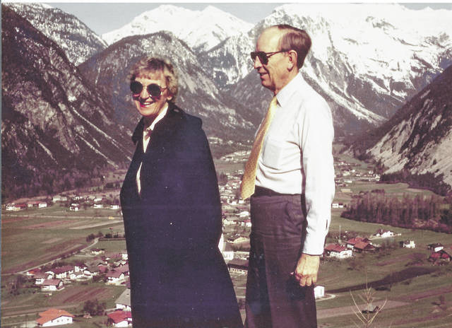 Bob and Helga McCoy are pictured in an alpine region of Austria in 1984.