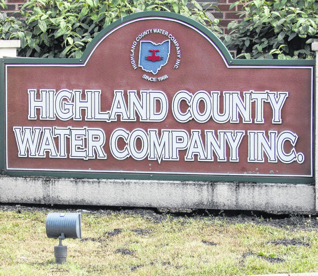 The Highland County Water Company is located at 6696 U.S. Route 50, Hillsboro.
