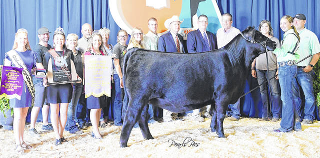 Maplecrest Phyllis 9043 won Reserve Grand Champion Owned Female at the 2020 National Junior Angus Show held July 22-24 in Tulsa, Oklahoma. Sydney Sanders, of Leesburg, owns the February 2019 daughter of Silveiras Style 9303. She earlier won junior champion-division 3. A total of 861 entries were shown.