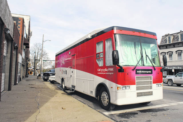 In a scene from November, UC Health's Mobile Mammography unit visits Hillsboro for the second time.