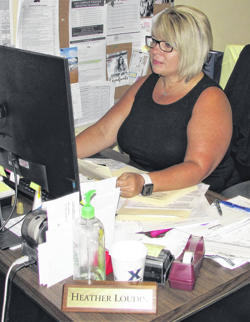 The deadline for voter registration is Monday, Oct. 5, according to Highland County Board of Elections Deputy Director Heather Loudin, pictured Tuesday at her desk.